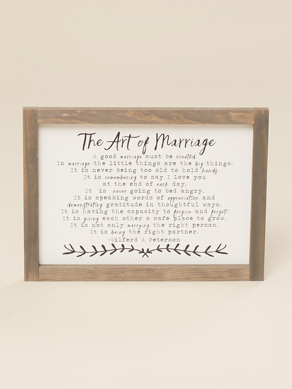The Art Of Marriage Mini Wall Art