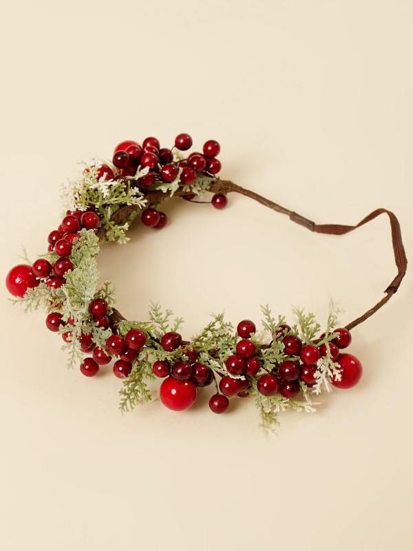 Holly Berry Crown Headband