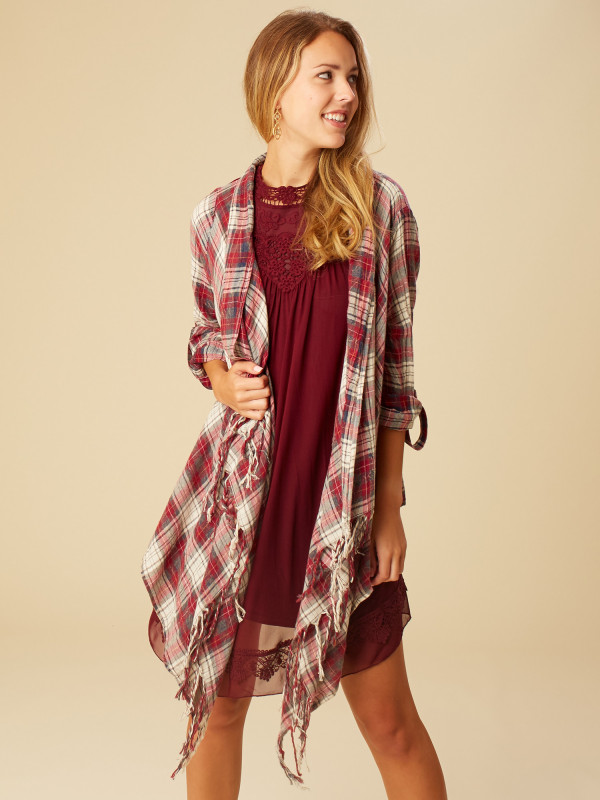 Altar'd State Sweet Plaid Cardigan