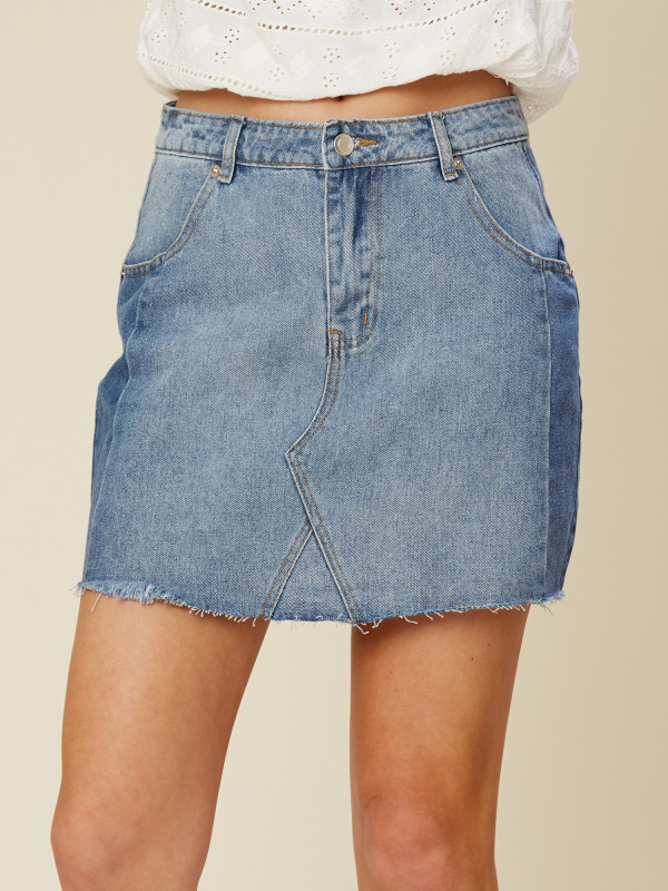 Altar'd State Two Tone Denim Skirt