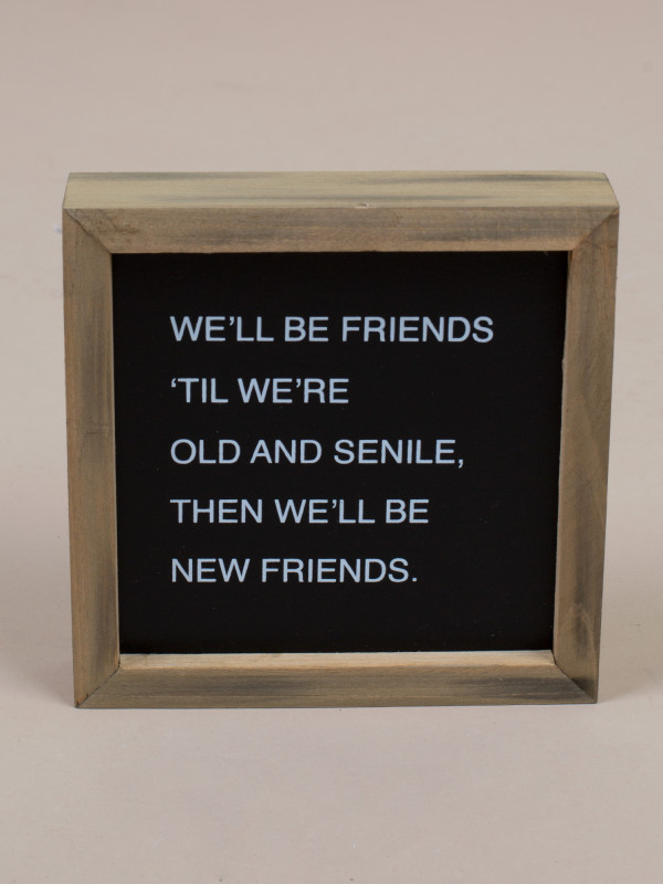 New Friends Framed Sign