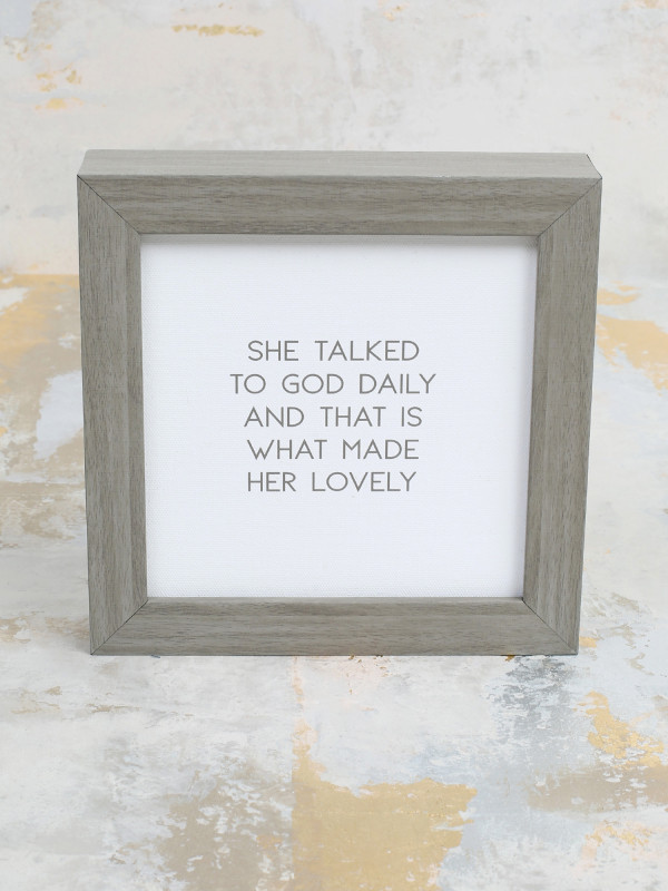 Altar'd State Talked To God Daily Framed Wall Art