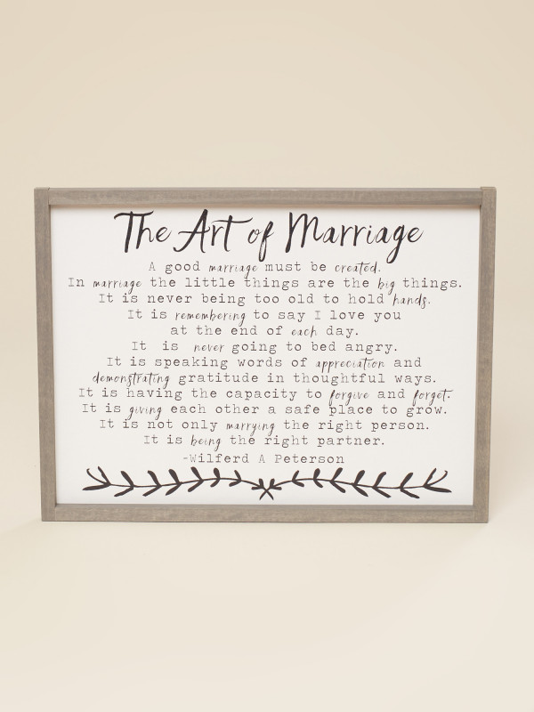 The Art Of Marriage Wall Art