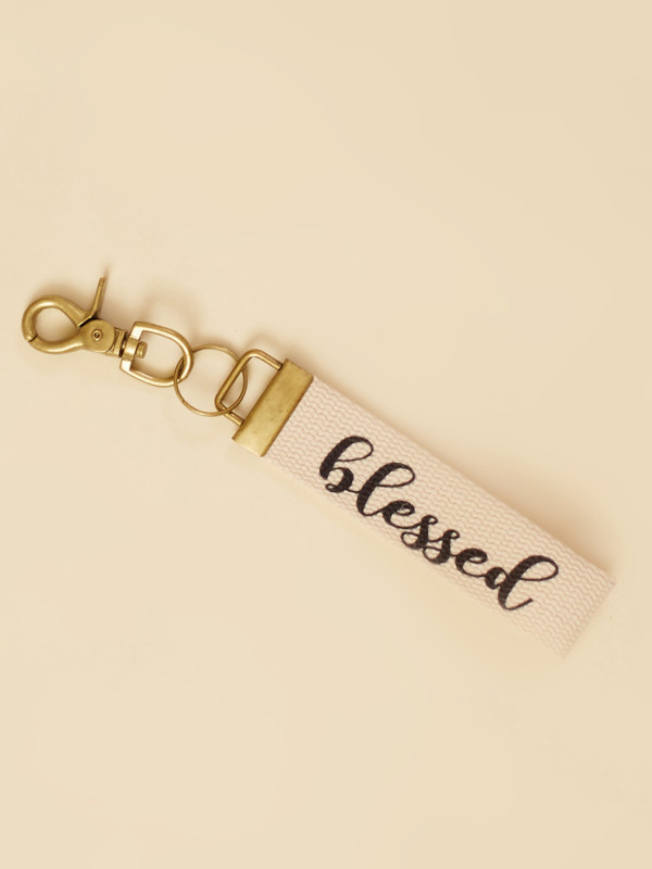 Blessed Canvas Keychain